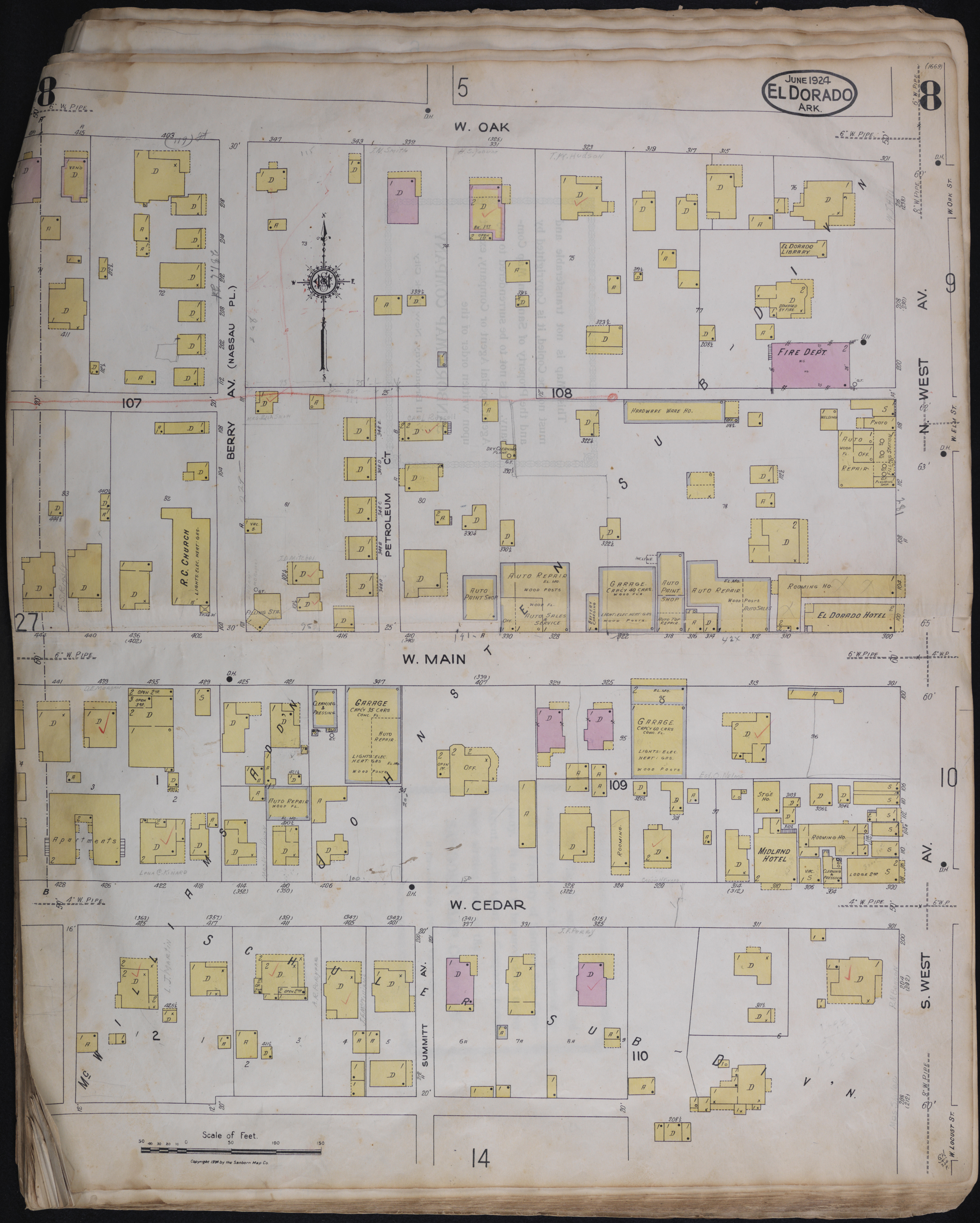 Sanborn maps for union county arkansas 1924 malvernweather Gallery